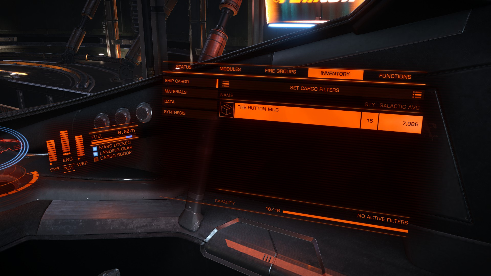 16 Hutton Mugs in my cargo hold